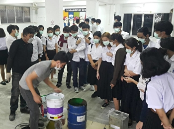 สาขาวิชาการบริหารทรัพยากรอาคาร นำนักศึกษาชั้นปีที่ 3 เข้าดูวิธีการทำงานระบบพื้น Epoxy ณ ห้องปฏิบัติการงานไม้ อาคาร 43